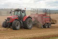 Massey Ferguson 6495 Tractor with a Massey Ferguson 185 Square Baler (Shane Casey CK25) Tags: massey ferguson 6495 tractor 185 square baler mf red agco carrigtwohill traktor traktori tracteur trekker trator ciągnik grain harvest grain2019 grain19 harvest2019 harvest19 corn2019 corn crop tillage crops cereal cereals golden straw dust chaff county cork ireland irish farm farmer farming agri agriculture contractor field ground soil earth work working horse power horsepower hp pull pulling cut cutting knife blade blades machine machinery collect collecting nikon d7200