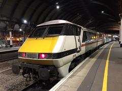 91119 at York (19/2/20) (*ECMLexpress*) Tags: lner london north eastern railway intercity swallow 225 class 91 91119 82225 york ecml