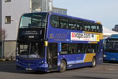 Alexander-Dennis E40D Enviro400 (DennisDartSLF) Tags: norwich bus alexanderdennis e40d enviro400 enviro 33806 first easterncounties excel yx63ljk