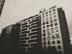 a photo by Nick J (Nick J Drawings) Tags: blackandwhite blancoynegro photography urban urbano edifications edificaciones sunset atardecer