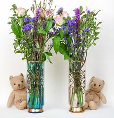 We've got one each! (Blund.Bear) Tags: 2020 365blundsof2020 blund bruce bears flowers plants