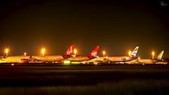 More night ops at BGI (Terris Scott Photography) Tags: aircraft airplane aviation plane spotting travel barbados jet jetliner british airways 777 200er night photography long exposure lights boeing 772 nikon d850 tamron 70200mm