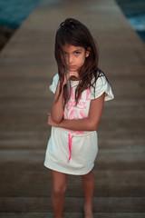 Sarah (Luis Montemayor) Tags: akumal girl chica woman mujer kid niña dock muelle sunset atardecer