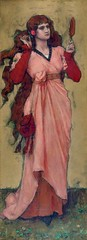 boughton-george-henry---a-girl-holding-a-mirror-and-a-rose_15502991153_o (Sabri KARADOĞAN) Tags: george henry boughton