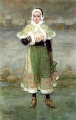 boughton-george-henry---woman-on-skates_16122684335_o (Sabri KARADOĞAN) Tags: george henry boughton