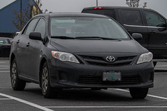 2011 Toyota Corolla (mlokren) Tags: 2020 car spotting photo photography photos pic picture pics pictures pacific northwest pnw pacnw oregon usa vehicle vehicles vehicular automobile automobiles automotive transportation outdoor outdoors 2011 toyota corolla black sedan