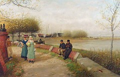 boughton-george-henry---an-exchange-of-compliments-muiden-north-holland_15936943697_o (Sabri KARADOĞAN) Tags: george henry boughton