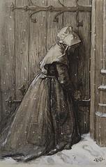 boughton-george-henry---woman-at-church-door_16122684375_o (Sabri KARADOĞAN) Tags: george henry boughton