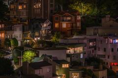 the neighborhood (karinavera) Tags: city longexposure night photography cityscape urban ilcea7m2 sunset sanfrancisco street sony200600 neighborhood homes california sfo