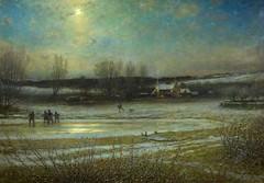 boughton-george-henry---a-frosty-night---the-frozen-mill-pond_16122687805_o (Sabri KARADOĞAN) Tags: george henry boughton