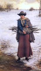 boughton-george-henry---gathering-firewood-in-winter_15935271458_o (Sabri KARADOĞAN) Tags: george henry boughton