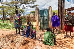 Karamajong Women (Rod Waddington) Tags: africa african afrika uganda tribe eastern afrique ugandan karamoja karamojong women child outdoor candid traditional group culture tribal cultural