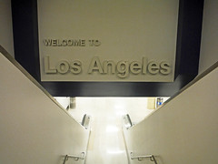 Welcome to Los Angeles (Sotosoroto) Tags: losangeles california lax airport architecture sign stairs