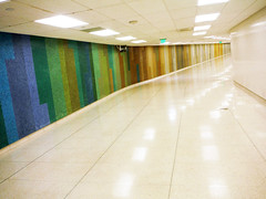 Down the Empty Tunnel (Sotosoroto) Tags: losangeles california lax airport architecture art mural