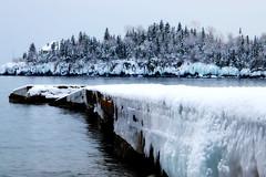 Cold Day on the Lake (FlatlandersGo) Tags: northshore lakesuperior upnorth winter cold frozen minnesota biglake ice