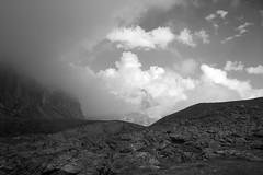 Full resolution. High Maira Valley. (sandro349) Tags: mountain landscape monochrome bw white italy france valley manual focus