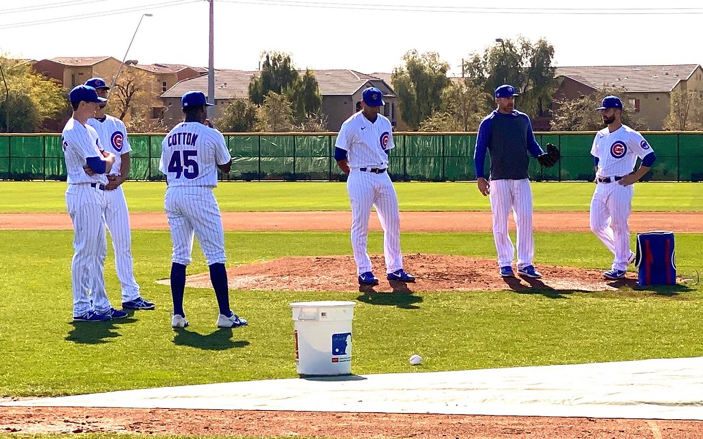 Cubs Photos: Baseball, 2020, chicago, cubs, springtraining, Kyle  Hendricks, Yu  Darvish