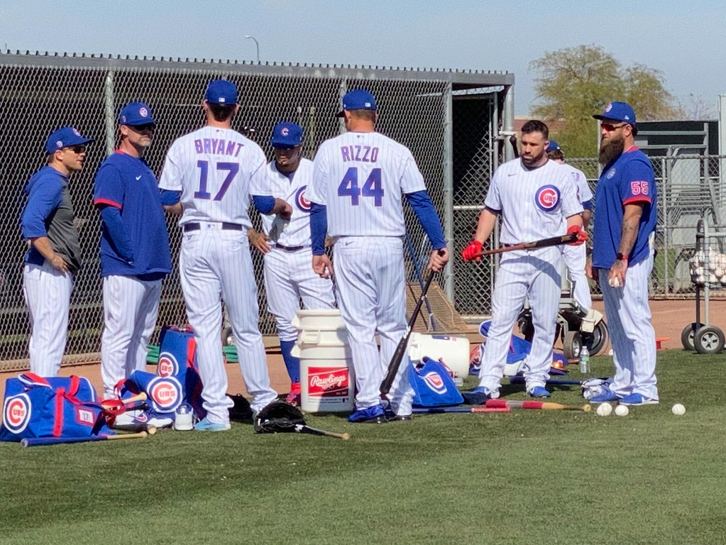 Cubs Photos: Baseball, 2020, chicago, cubs, springtraining, Anthony  Rizzo, Kris  Bryant, jasonkipnis, David  Ross