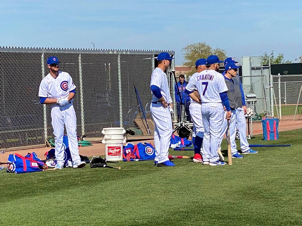 Cubs Photos: Baseball, 2020, chicago, cubs, springtraining, Kris  Bryant, Anthony  Rizzo, Victor  Caratini