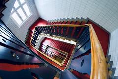 Red Carpet (kuestenkind) Tags: treppenhaus staircase rot red hamburg langereihe canon 6d weitwinkel fisheye northgermany norddeutschland redcarpet