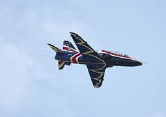 Hawk T1 (Graham Paul Spicer) Tags: iwm duxford airfield museum airshow aviation aircraft flying display bae hawk t1 trainer jet raf military royalairforce