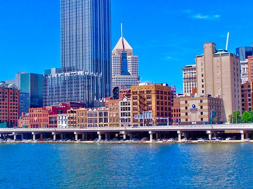 Pittsburgh - Pennsylvania  - United States - Monongahela River Bridge -  Pittsburgh Skyline
