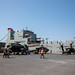 Soldiers prepare military equipment and vehicles
