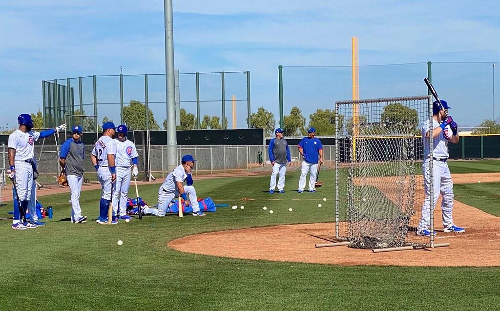 Cubs Photos: Baseball, 2020, chicago, cubs, springtraining, Jason  Heyward, Ian  Happ, Kyle  Schwarber, Willson  Contreras