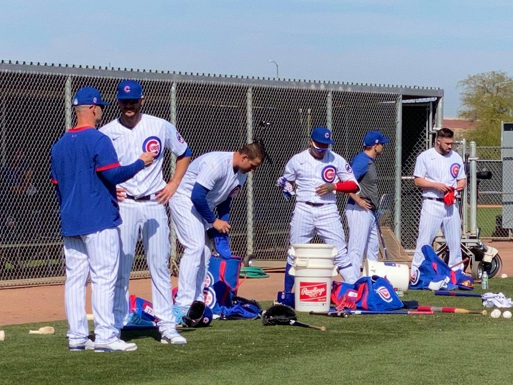 Cubs Photos: Baseball, 2020, chicago, cubs, springtraining, Anthony  Rizzo, Kris  Bryant, jasonkipnis, David  Ross