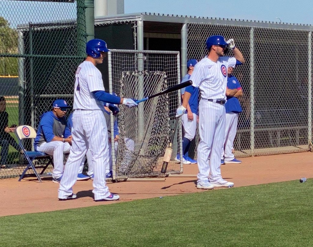 Cubs Photos: Baseball, 2020, chicago, cubs, springtraining, Anthony  Rizzo, Kris  Bryant
