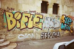 (Bucuresci Cartel) Tags: bucharest bucuresti romania eastern europe street art culture graffiti lifestyle konica big mini aps bms100 kodak ultra advantix 200 expired 2004 grain decay love colors urban hyeroglyphics