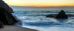 Grey Whale Cove State Beach (j1985w) Tags: california montara greywhalecove beach ocean water waves sky clouds rocks sunset longexposure sand hdr