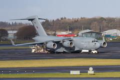 ZZ177 C-17A Globemaster III RAF Prestwick 20.02.2020 (Robert Banks 1) Tags: zz177 177 boeing c17a c17 globemaster iii raf royal air force rrr ascot egpk pik prestwick 99 sqn squadron