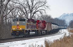 CP 7016, Homer, Minnesota (jterry618) Tags: canadianpacific cp7016 heritageunit cp railroad train engine diesellocomotive railway riversubdivision minnesota scenic