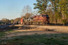 Last Light (travisnewman100) Tags: norfolk southern ns train railroad freight locomotive es44ac ge gevo w47 347 green seney georgia division atlanta north district c449w prr heritage