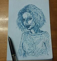 Dibujos rápidos a pluma estilografica  en trocitos de papel.   Small drawings.   .   .   #portrait #drawing #art #draw #painting  #retrato #blue #artist#dibujos #ballpen #sketch #flickr #boli  #artlovers #painter#ink #artsharing #artstagram  #bellezza  #t (egc2607) Tags: blue ink sketch disegno retrato instagram tattoo art buongiorno boceto goodmorning ballpenart artlovers flickr bonjour bellezza ballpen artist painter painting boli artsharing drawing beautifulgirl dibujos portrait artstagram buenosdias vsco draw
