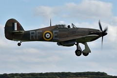 BAA_1633 RAF Hawker Hurricane Mk1 P3700 G-HURI 303 Polish Sqdn RF-E In 2015 G-HURI has been repainted in the RAF markings as P3700 a Hurricane Mk1, coded RF-E of No 303 Polish Sqdn. P3700 was abandoned by Sgt Kazimierz Wunsche over Poynings Kent (chris murkin) Tags: history historical historic airworthy vintage hawker hurricane mk1 p3700 ghuri 303 polish sqdn rfe 2015 been repainted raf markings poynings kent photo imperial war museum duxford cambridgeshire uk warbird wwii legend nikon plane prop propblur fighter flying aircraft air airlegend warbirds aeroplane