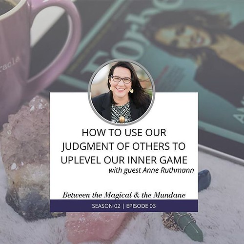 How do you manage judgey vibes in a way that results in a positive outcome rather than a harmful one? Podcast host @geekgirltarot invited me to chat about how we can use judgement to do self-development work and we walked through a couple examples in this