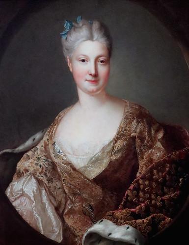 IMG_0111H X France vers 1750 Portrait présumé de la princesse Amélie de Saxe.  Presumed portrait of Princess Amelie of Saxony.  Tours Musée des Beaux Arts.