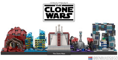 "Lego Star Wars - ""The Clone Wars"" Skyline MOC"
