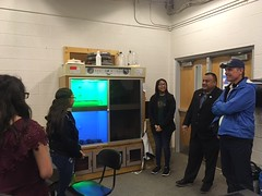 Tour of Mescalero Apache School's Aquaponics Garden, February 20, 2020.