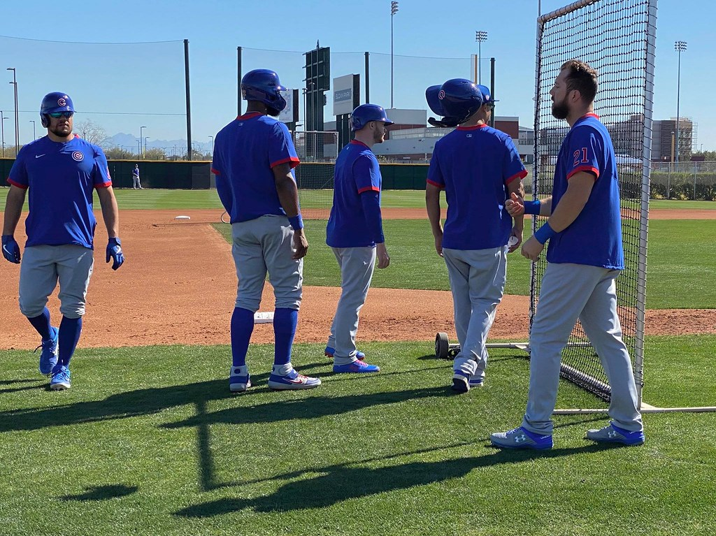 Cubs Photos: Baseball, 2020, chicago, cubs, springtraining, Kyle  Schwarber, Jason  Heyward, stevensouza, Ian  Happ