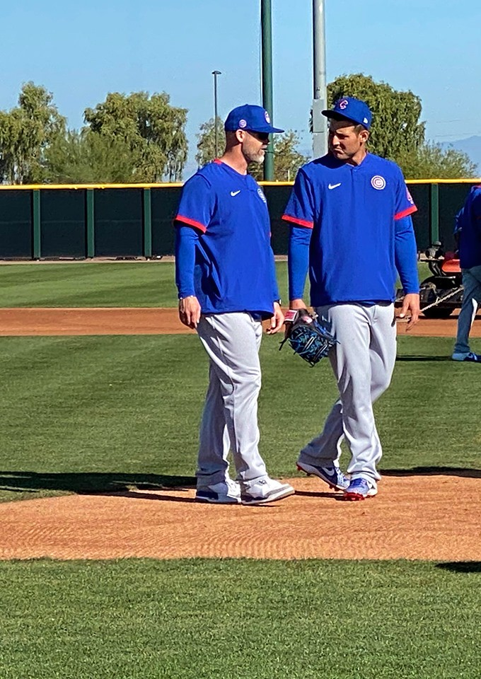Cubs Photos: Baseball, 2020, chicago, cubs, springtraining, David  Ross, Anthony  Rizzo