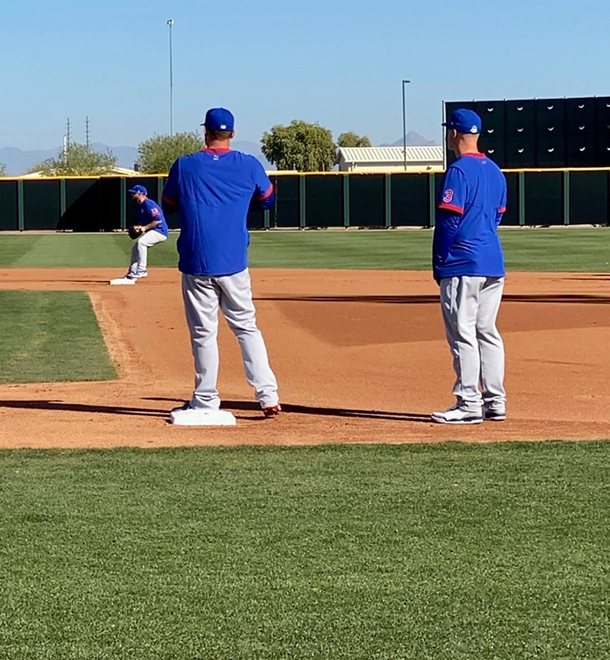 Cubs Photos: Baseball, 2020, chicago, cubs, springtraining, Anthony  Rizzo, David  Ross