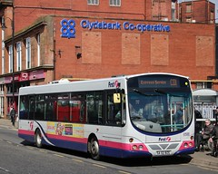 Photo of First Glasgow SA02 BZE (61588) | Route CQ1 | Clydebank Bus Station, W. Dunbartonshire