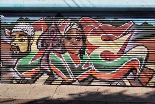 Mural in LA's Leimert Park