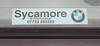 Sycamore BMW, Peterborough dealer sticker