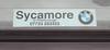 Sycamore BMW, Peterborough dealer sticker