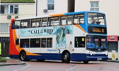 Photo of Stagecoach Devon 18384 MX55KSE in Brixham with a 13 service for Kingsteignton.