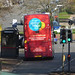 The Living Wage bus on Cole Bank Road